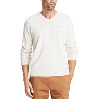 Tommy Hilfiger Mens Signature Solid V-Neck Sweater (various colors/sizes)
