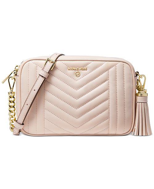 Michael Kors Jet Set Charm Leather Camera Bag Reviews Handbags Accessories Macy S