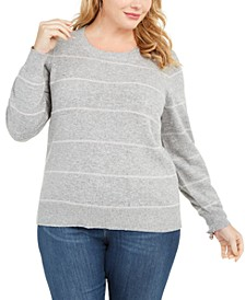 Plus Size Tinsel Stripe Sweater
