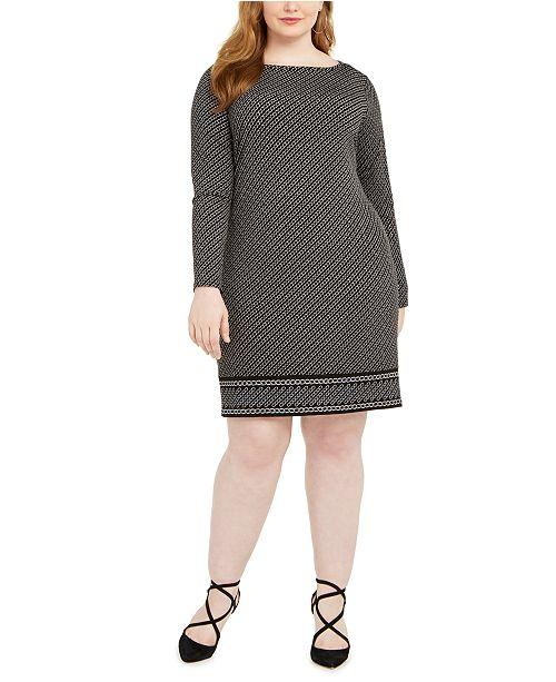 Michael Kors Plus Size Chain-Print Dress