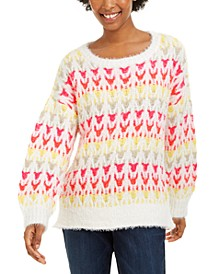 Juniors' Textured Sweater, Created For Macy's