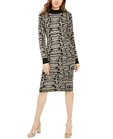 Juniors' Snake-Print Bodycon Dress
