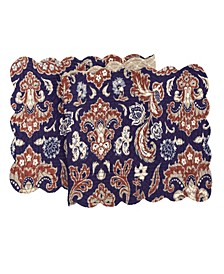 "C F Home Rosamund Damask Quilted Runner, 14""X 51"""