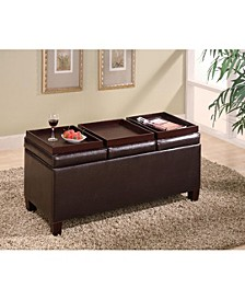 Breckenridge Storage Ottoman with Reversible Trays