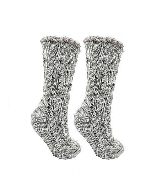 MinxNY Women's Shea Butter and Rose Oil Infused Book Lovers Slipper Socks