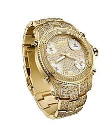 Men's Jet Setter Platinum Series Diamond (3 ct. t.w.) 18K Gold-Plated Stainless Steel Watch, 50Mm