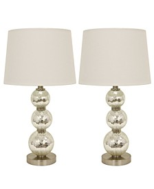 Decor Therapy Tri-Tiered Table Lamps Set of 2