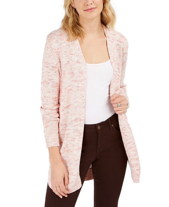 Style & Co Open Marled-Knit Cardigan, Created for Macy's