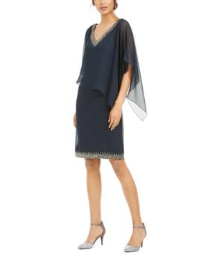 Embellished Overlay Sheath Dress