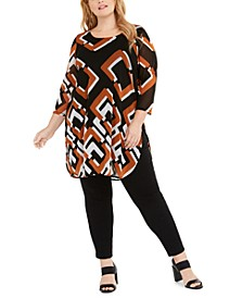 Plus Size Printed Tunic Top, Created For Macy's