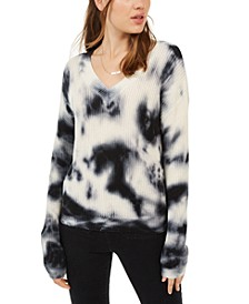 Juniors' Tie-Dyed Pullover Sweater