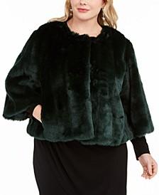 Plus Size Faux-Fur Shrug