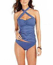 Island Goddess Convertible Tankini Top & Hipster Bikini Bottoms