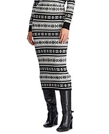 Straight Wool-Blend Skirt