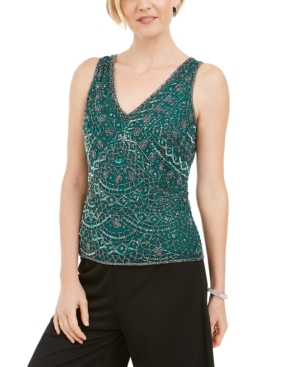 1920s Blouses & Shirts History 28th  Park Beaded Embroidered Top $44.93 AT vintagedancer.com