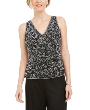 1920s Blouses & Shirts History 28th  Park Beaded Embroidered Top $33.93 AT vintagedancer.com