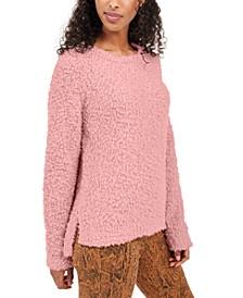 Juniors' Textured High-Low Sweater