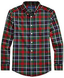 Polo Ralph Lauren Big Boys Plaid Cotton Poplin Shirt