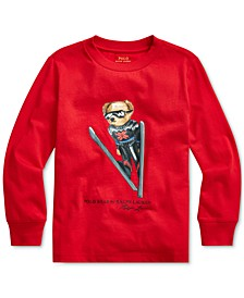 Toddler Boys Ski Bear Cotton Jersey T-Shirt