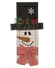 """21.85"""" H Wooden Snowman Shutter Wall Decor"""