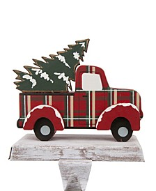 "5.12"" H Wooden Truck Stocking Holder"
