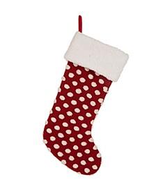 """21"""" L Pompom Christmas Stocking"""