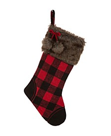 "21"" L Buffalo Plaid Stocking"