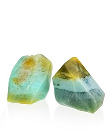 Glow Gems Set of 2 Handcrafted Natural Gemstone Soaps - Vanilla and Lemon