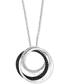 "EFFY® Diamond Interlocking Multi-Ring 18"" Pendant Necklace (5/8 ct. t.w.) in 14k White Gold"