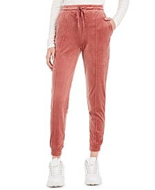 Juniors' Exposed-Seam Jogger Pants