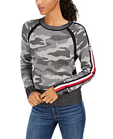 Cotton Camo Jacquard Sweater