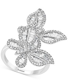 EFFY® Diamond Butterfly Statement Ring (1-3/8 ct. t.w.) in 14k White Gold