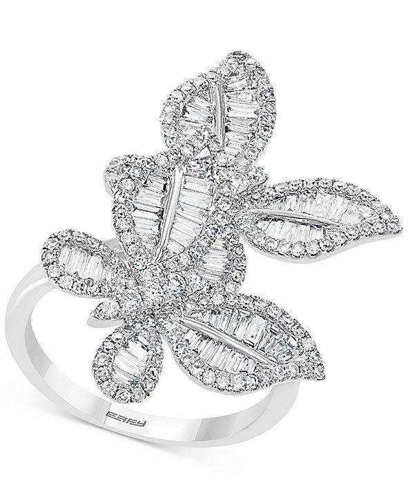 EFFY Collection EFFY® Diamond Butterfly Statement Ring (1-3/8 ct. t.w.) in 14k White Gold