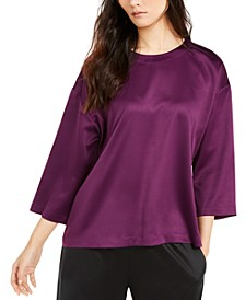 Satin 3/4-Sleeve Top