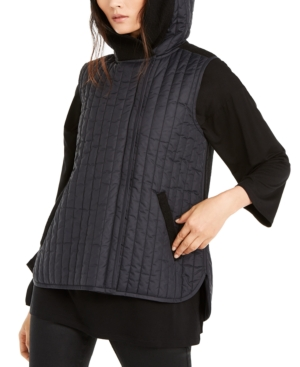 Eileen Fisher Tops QUILTED HOODED VEST