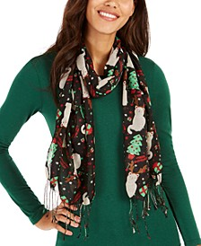 Meowy Christmas Oblong Scarf