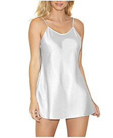 Women's Lila Satin Chemise Nightgown, Online Only