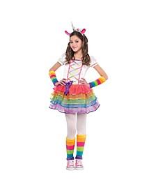 Big Girls Rainbow Unicorn Costume