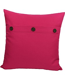 "Buttons Solid Color Pillow Collection, 20"" x 20"""