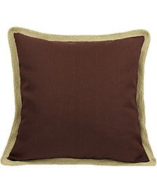 "Classic Jute Solid Color Pillow Collection, 20"" x 20"""