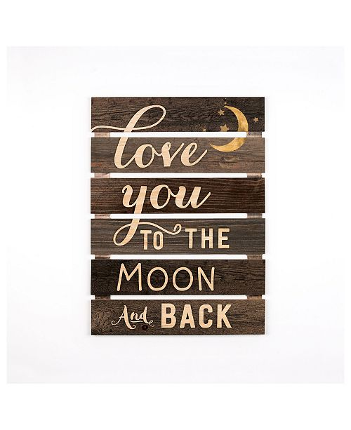 P Graham Dunn Love You To The Moon & Back Wall Art