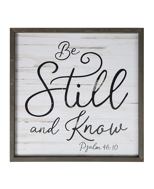 P Graham Dunn Be Still And Know Wall Art