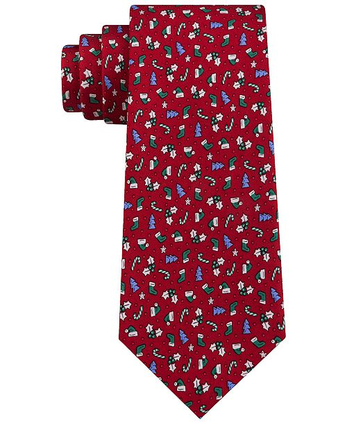 Tommy Hilfiger Men's Assorted Holiday Print Silk Ties