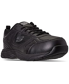 Men's Work Relaxed Fit Dighton Slip-Resistant Wide Width Casual Work Sneakers from Finish Line