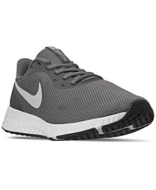 Men's Revolution 5 Wide Width Running Sneakers from Finish Line