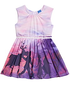 Little Girls Frozen Motif Sunset Dress