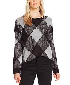 Textured Argyle Sweater