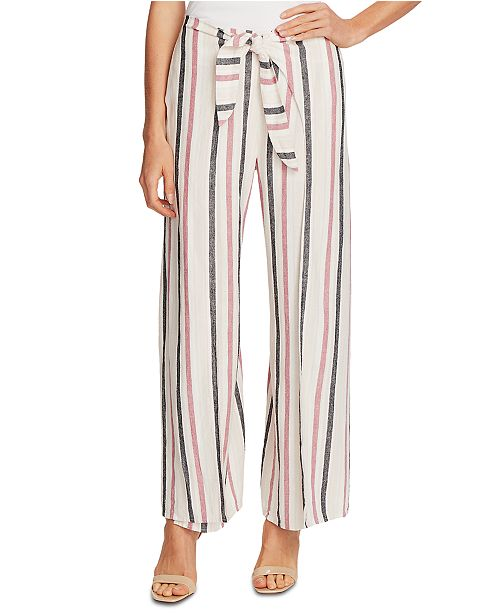Vince Camuto Striped Wide-Leg Pants