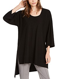 U-Neck Asymmetrical-Hem Top