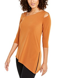 Petite Asymmetrical Cut-Out Top, Created for Macy's